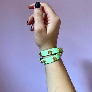 Tori Burch Leather Wrap Bracelet